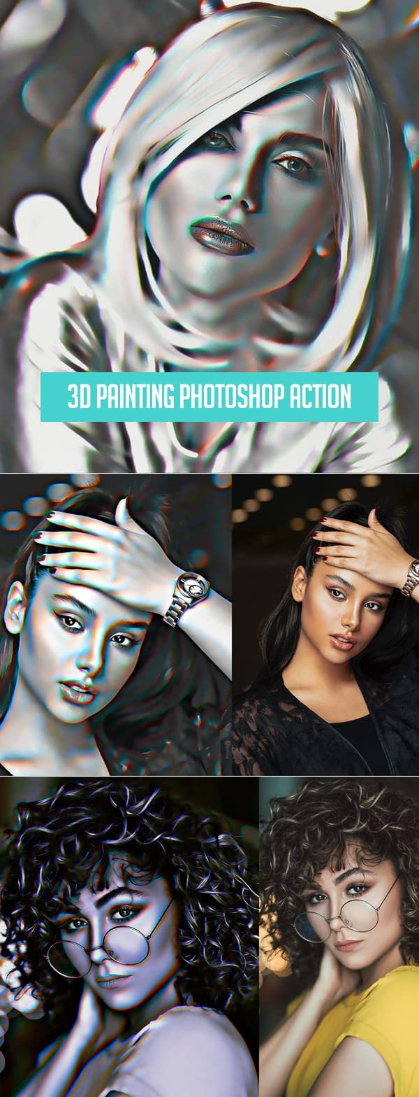 3D Painting Photoshop Action