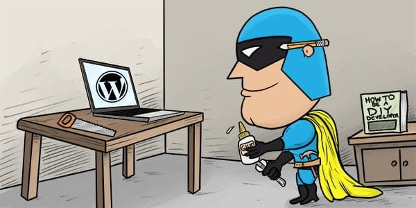 Dev Man trying to DIY with a WordPress site.