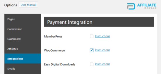 Integrating Affiliate Royale with WooCommerceng Affiliate Royale with WooCommerce