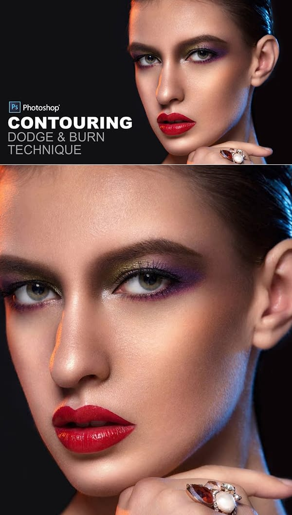 How to Contouring Dodge and Burn in Photoshop - Non-Destructive Retouch Technique
